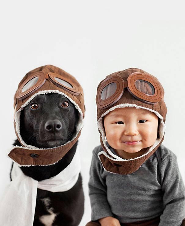 jasper e zoey bimbo e cane