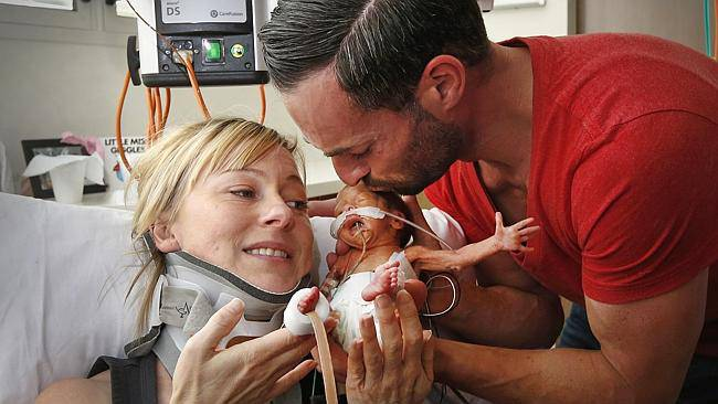 michelle con alexander e figlia ava
