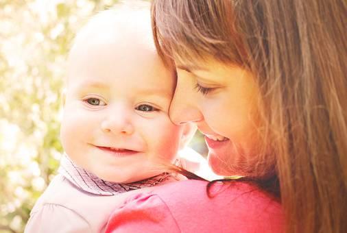 mamma e figlio felice