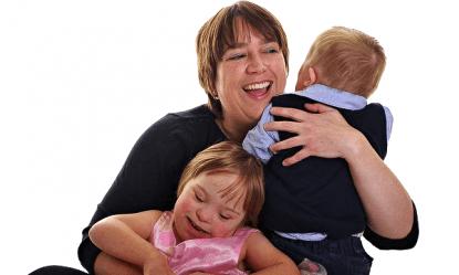 jill con i figli