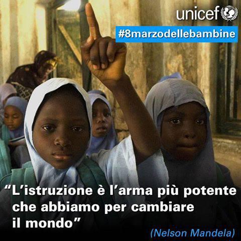 #8 marzo delle bambine UNICEF