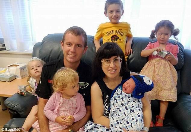 Mary Gorgens e famiglia