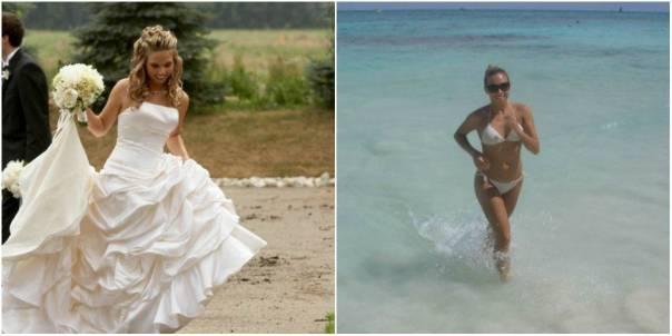 donna mare e abito sposa