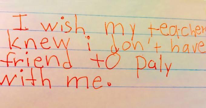vorrei che il mio insegnante sapesse