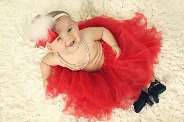 bimba vestito rosso