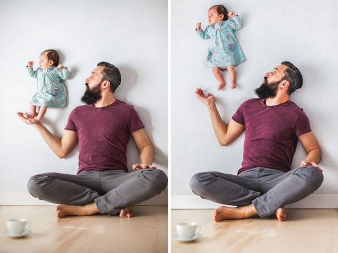 papà e bimbo foto