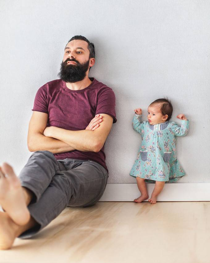 papà e figlia scatto