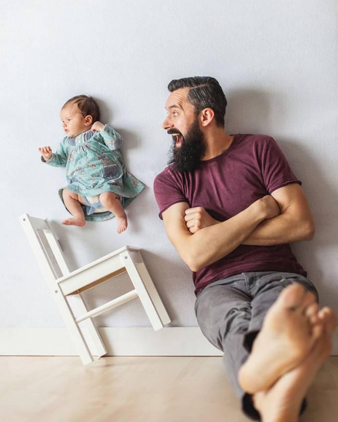 padre chiacchiera con figlio