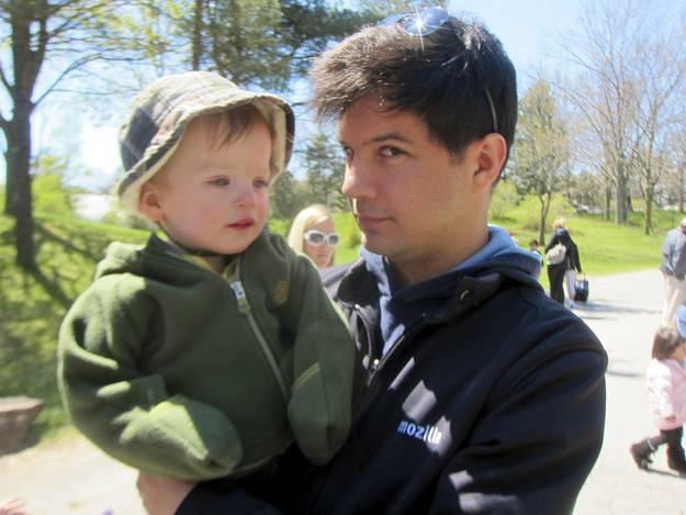 papà e figlio