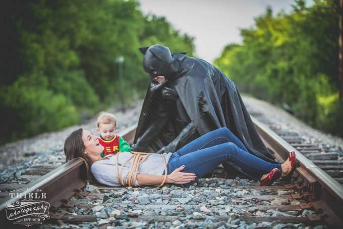famiglia si diverte