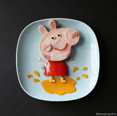 peppa pig di cibo