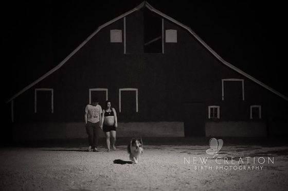 donna incinta e cane