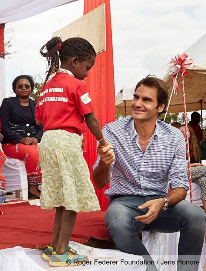 Federer con bimba