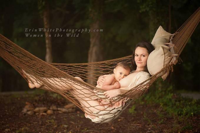 mamma e figlio amaca