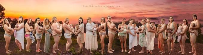mamme allattano al seno insieme