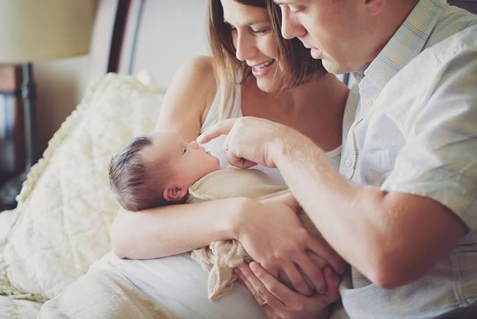 neonata e genitori