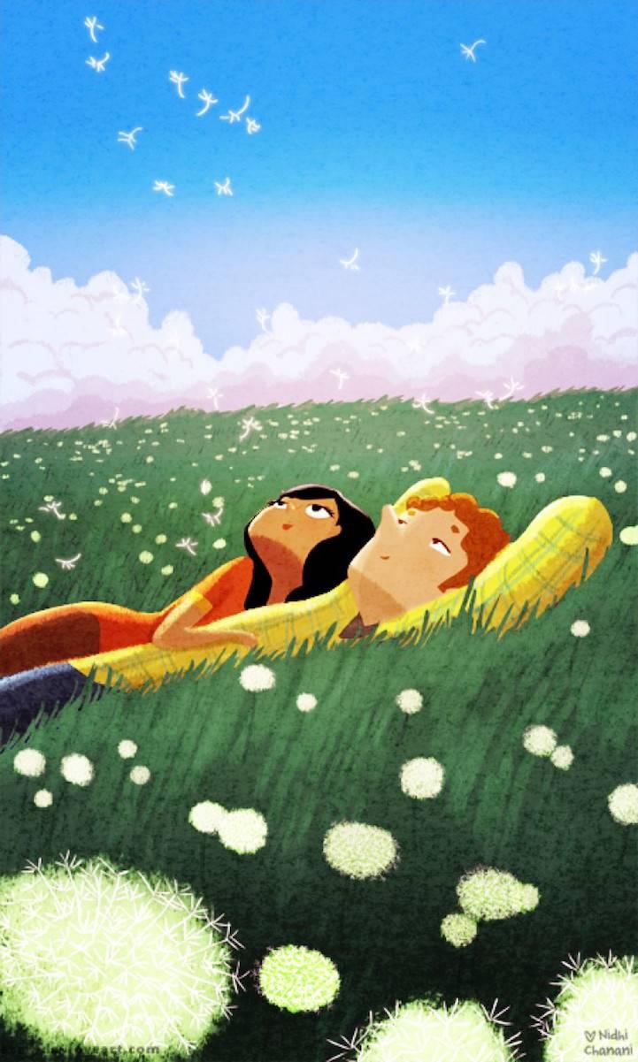 coppia sull erba