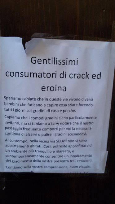 cartello agli eroinomani