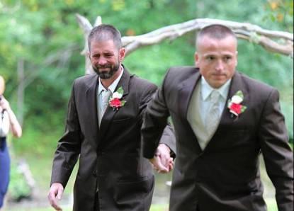 papà e patrigno nozze
