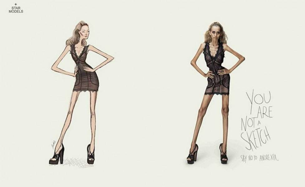 pubblicità anoressia