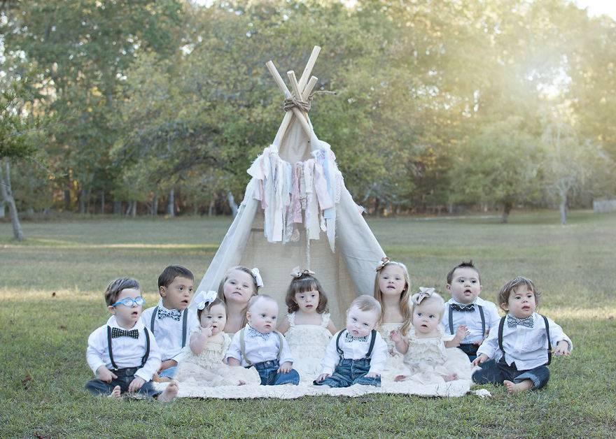 bambini sotto tenda