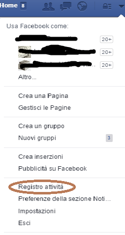 cancellare messaggi su Facebook