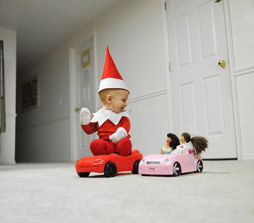 bimbo e auto
