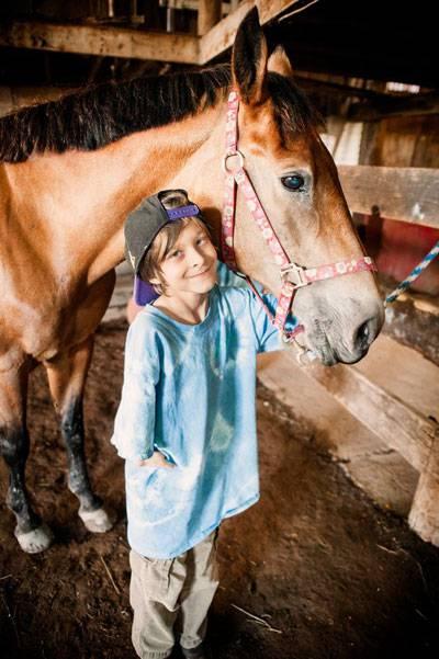 ragazzino e cavallo