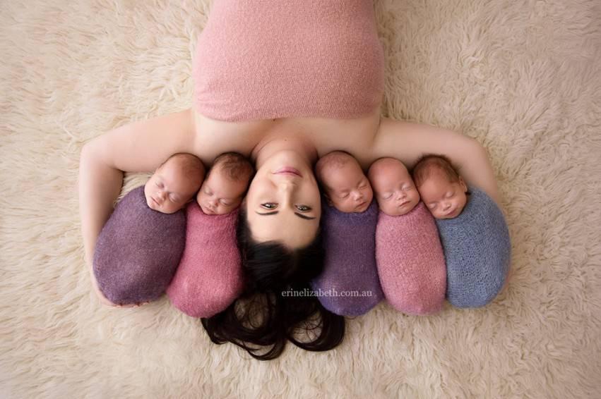 mamma e 5 gemelli