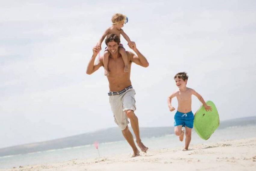 papà con figli