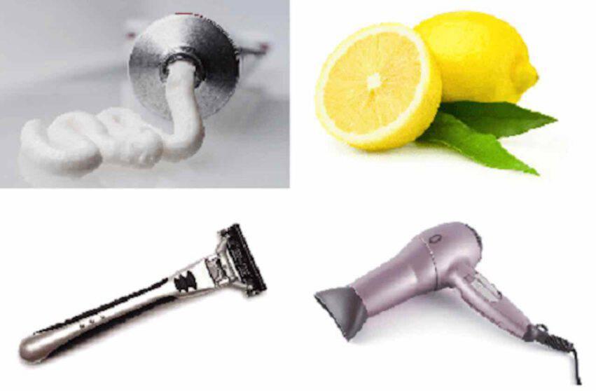 dentifricio limone lametta phon