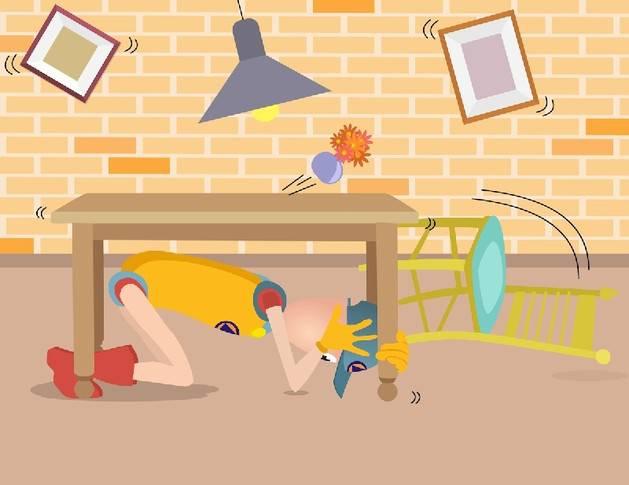 Cosa fare in caso di terremoto ai bambini lo spiega civilino