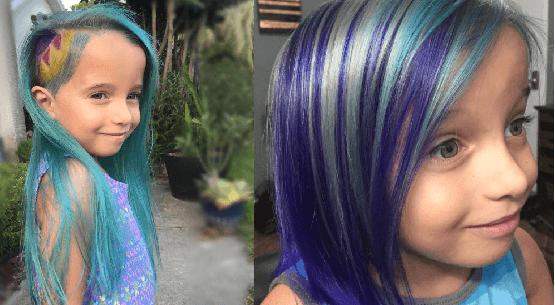 Offendono una mamma per aver tinto i capelli alla figlia e lei risponde a tono