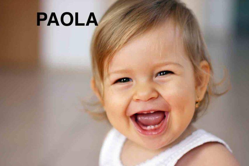 BAMBINA NOME PAOLA