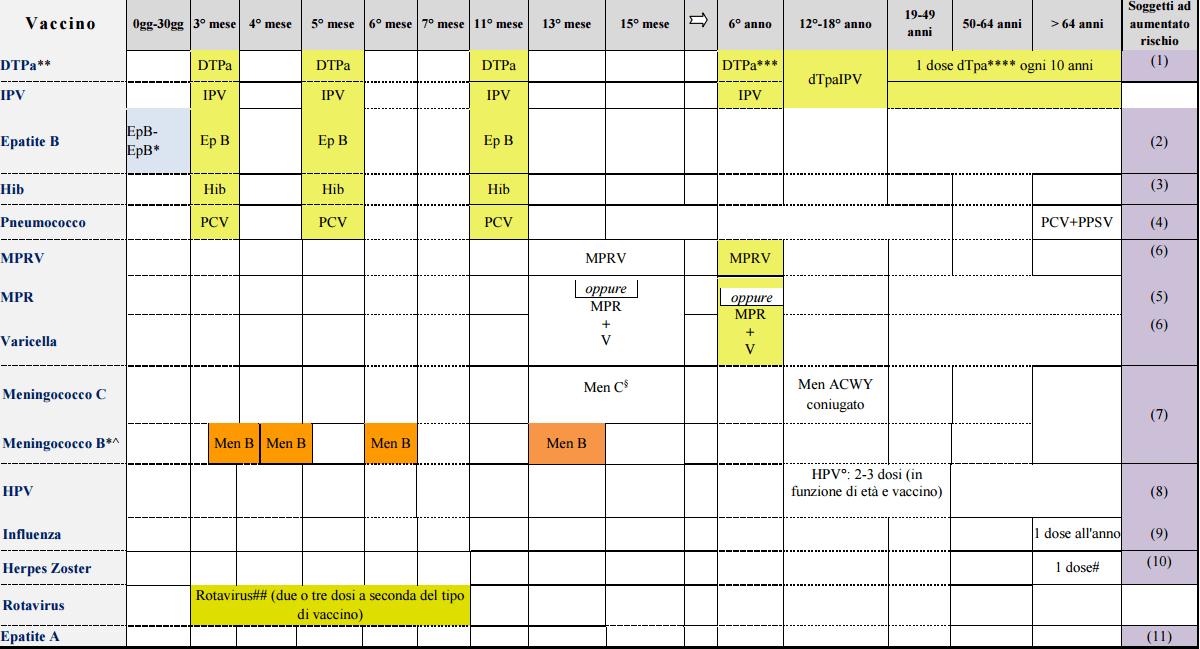 Calendario Delle Vaccinazioni.Piano Nazionale Vaccini Tutte Le Vaccinazioni Obbligatorie