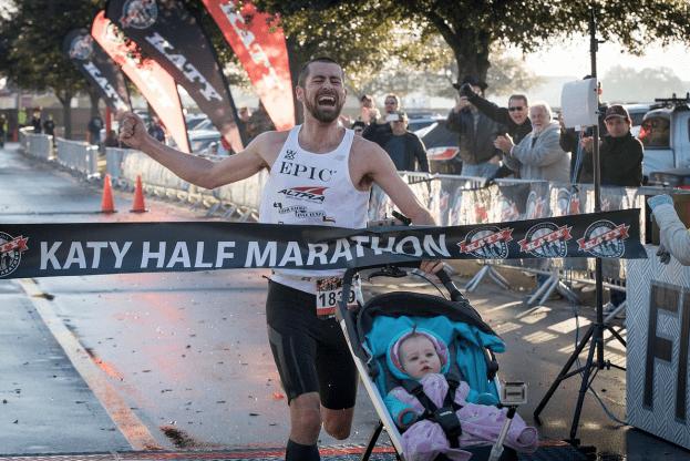 papà vince una maratona