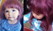 bambina si tinge i capelli