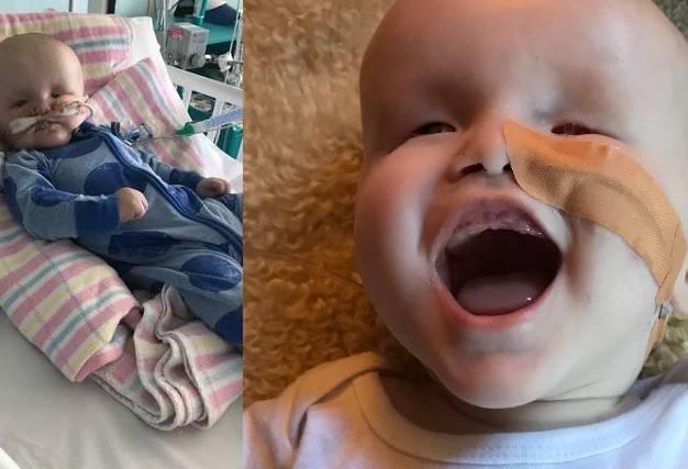 Un bimbo nasce senza occhi e con una malattia rara, ma lotta per sopravvivere