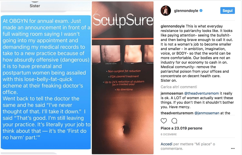 Due mamme sorelle furiose per il messaggio nello studio di un ginecologo