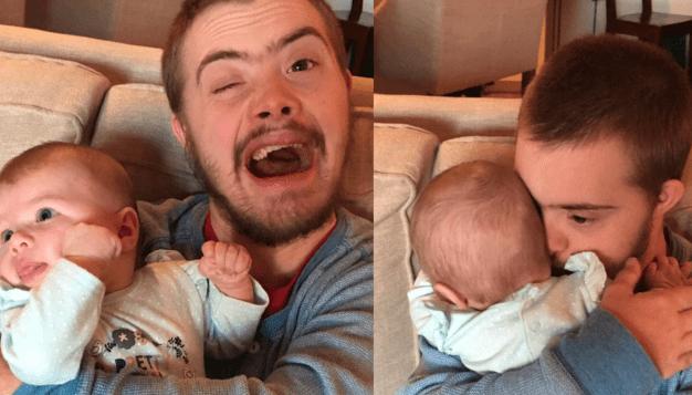 Neonata per la prima volta incontra lo zio: la foto è virale (FOTO)