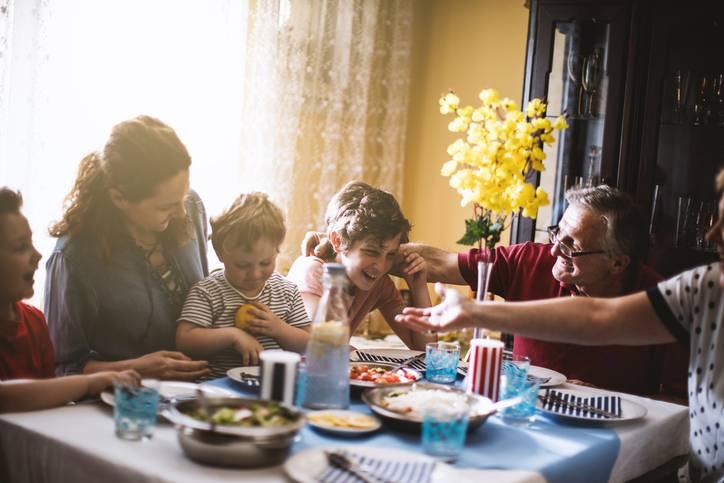 mangiare con i genitori