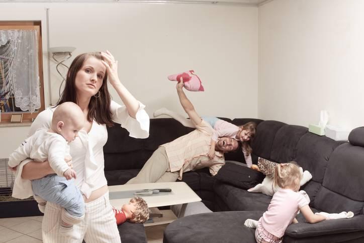 Mamme stressate: i mariti le provano addirittura più dei figli