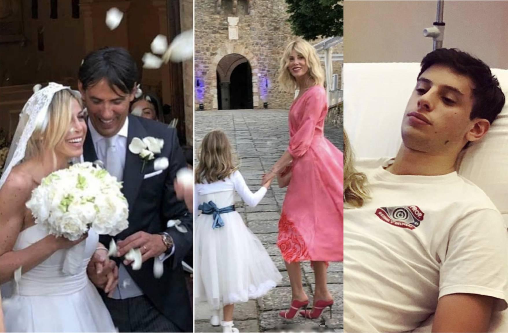 Alessia Marcuzzi testimone di Inzaghi mentre loro figlio Tommy è