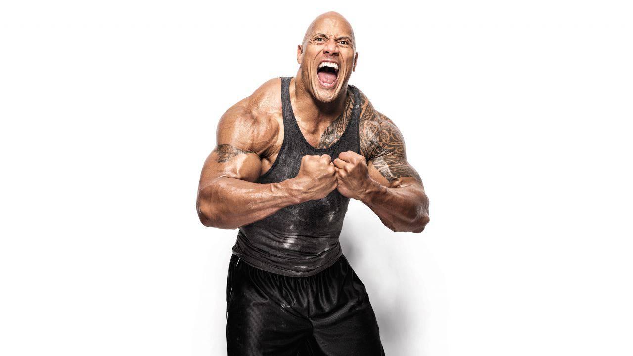 The Rock papà