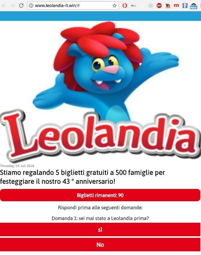 Leolandia truffa