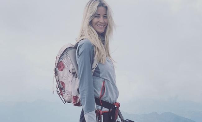 Elena Santarelli in montagna