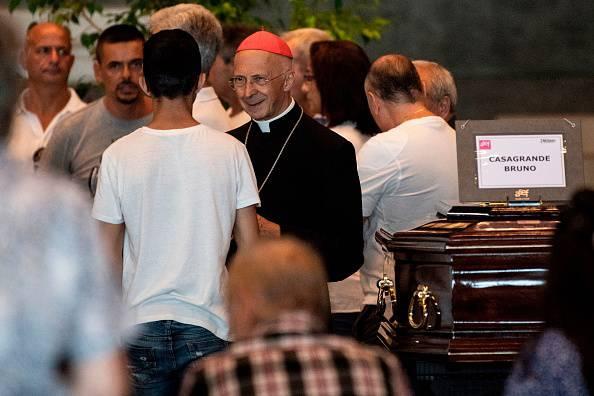 funerali di stato disastro di genova