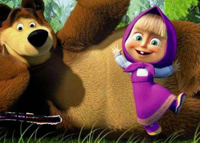 cartone masha e orso