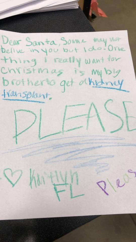 lettera di una bambina a Babbo Natale 2