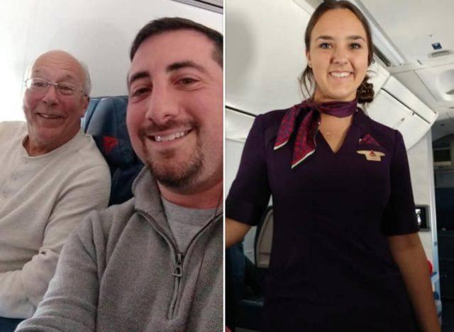 papà vola a Natale con la figlia 2